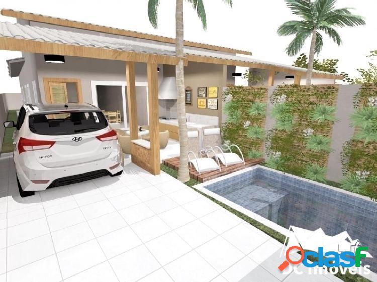 Casa com 3 dormitórios, 78m², pontal de santa marina - caraguatatuba - sp