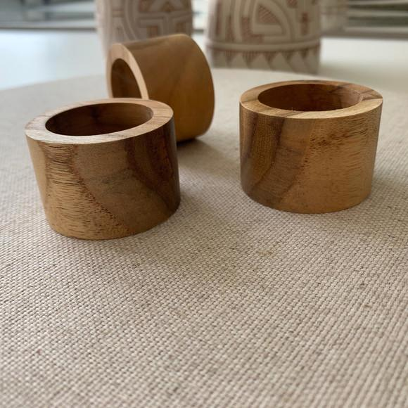Argola guardanapo madeira