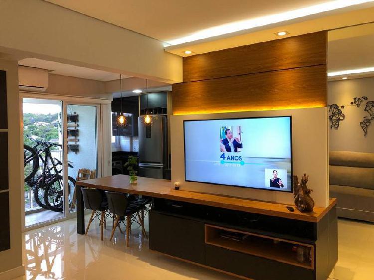 Apartamento mobiliado com dois quartos guarani - novo