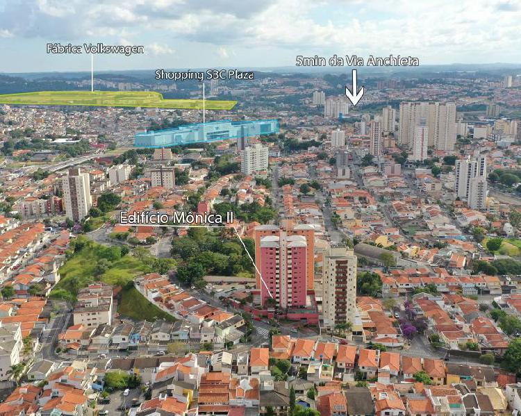 Apartamento para venda tem 82 metros quadrados com 3 quartos