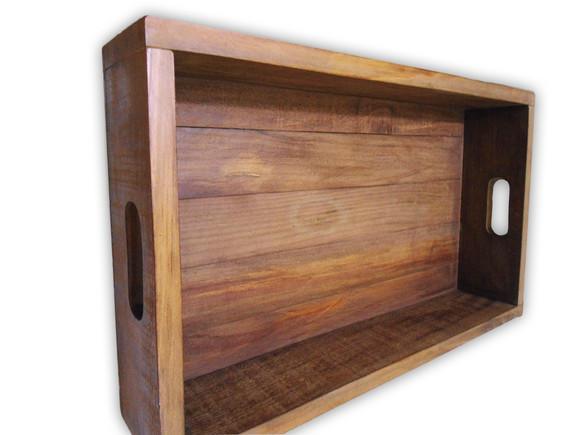 Bandeja madeira maciça rustica reta - 10% off