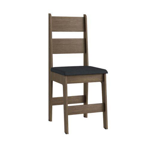 Cadeiras em mdf ameixa negra e assento preto lilies