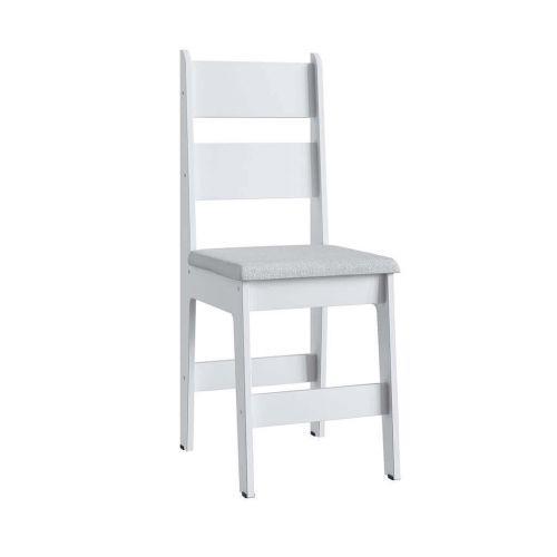 Cadeiras mdf branca e assento branco lilies m/u00f3veis