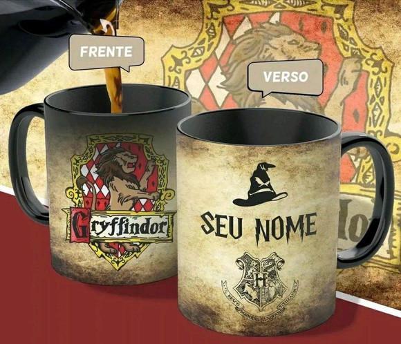 Caneca mágica harry potter gryffindor