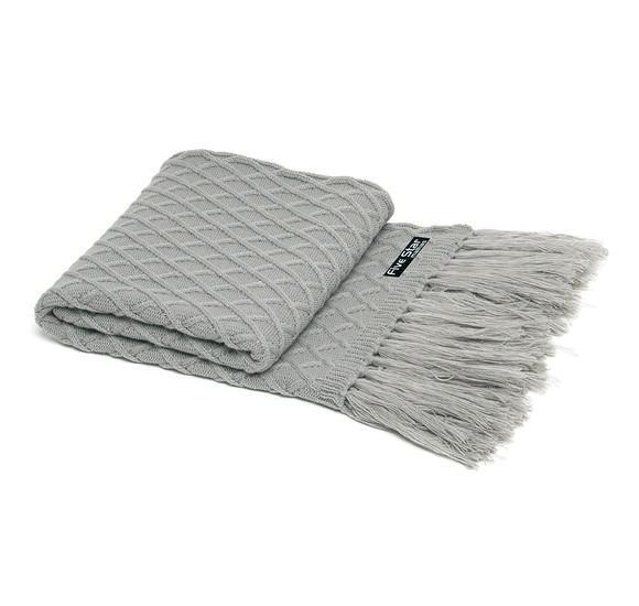Peseira cama casal com franja 180cmx60 cor cinza cod 354.3