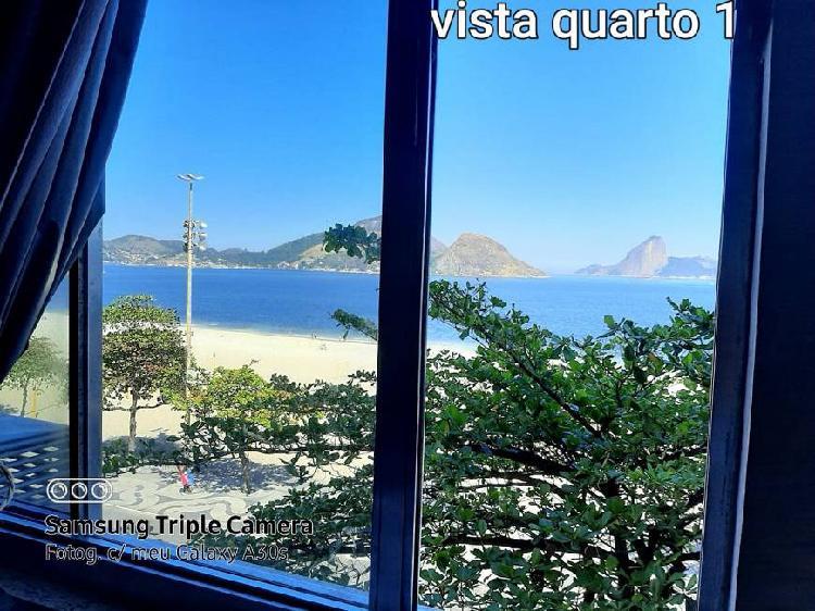 Praia de icarai, 3 quartos 1 vaga, frontal mar