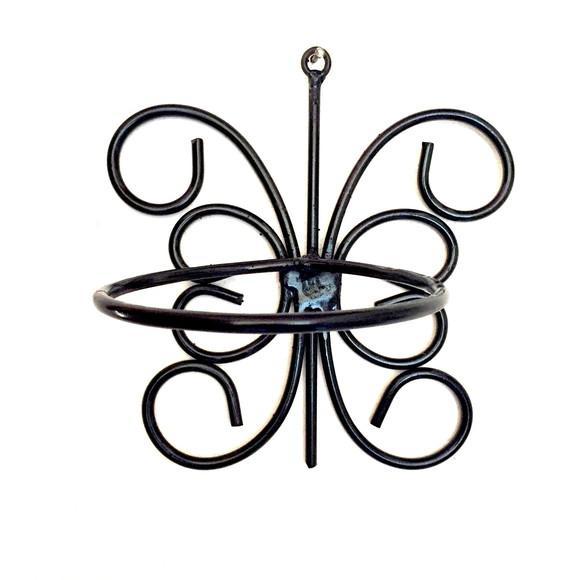 Suporte para vaso de planta parede ferro rustico artesanal