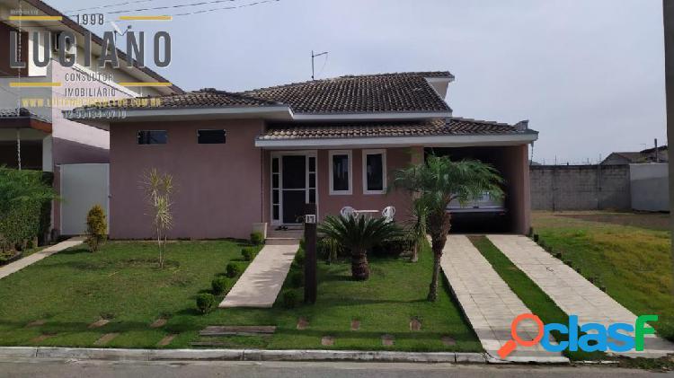 Casa 3 dormitórios condomínio fechado quintas do villa branca em jacareí sp