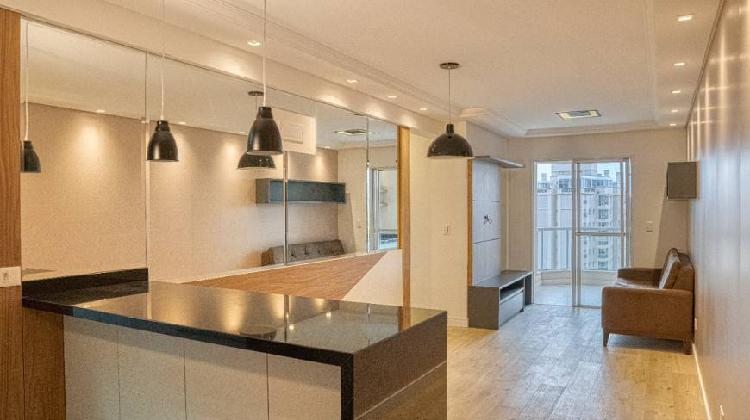 Apartamento semi mobiliado 80 metros quadrados com 3 quartos