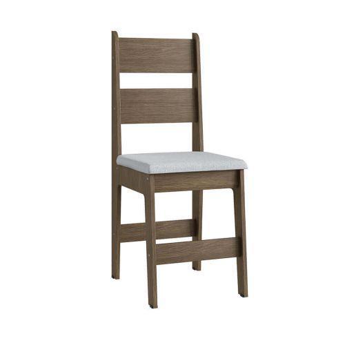 Cadeiras mdf ameixa negra com o assento branco lilies