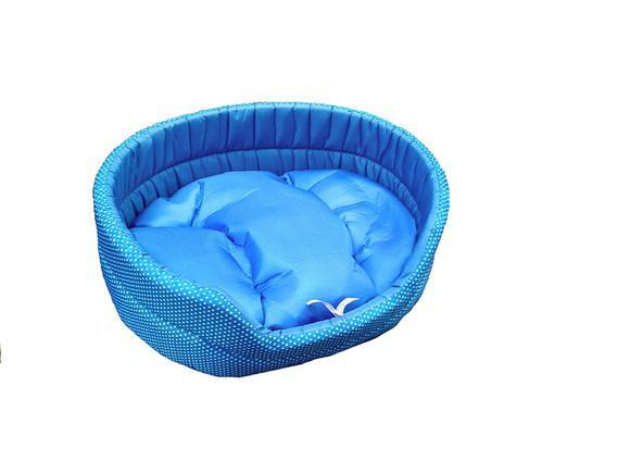 Cama europa p azul para cachorro e gato