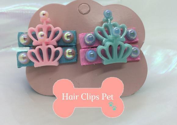 Hair clips pet coroa