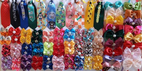 Kit 200 pet shop, laço lacinho, gravatas, laços de
