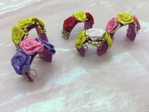 Kit tiara pet coroa de flores luxo - pet shop