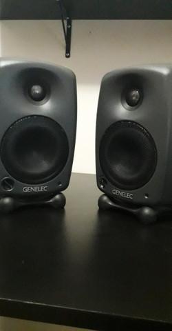 Monitores referência/audio genelecs 8020b
