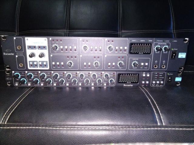 Sistema de gravação focusrite top áudio profissional