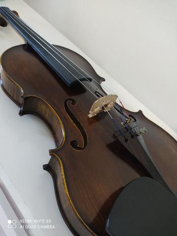 Violino 4/4 fabricação ajustado por luthier pronto para