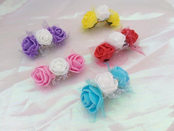 Kit tiara pet coroa de flores - banho e tosa