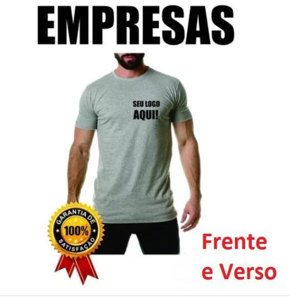 10 camisetas personalizadas empresas com seu logo malha fria