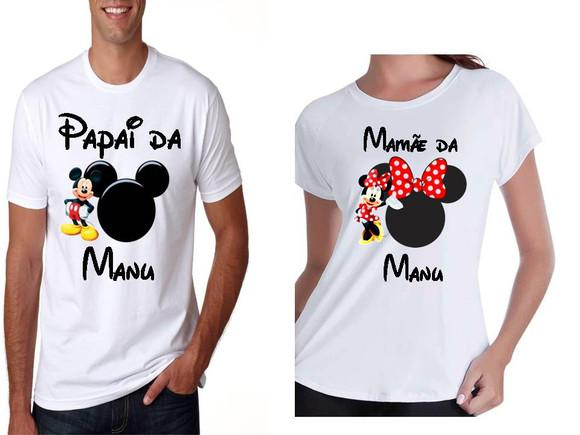 Camiseta personalizada patrulha mickey e minnie