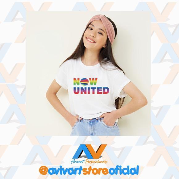Camiseta infantil personalizada now united