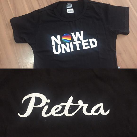 Camiseta now united personalizada