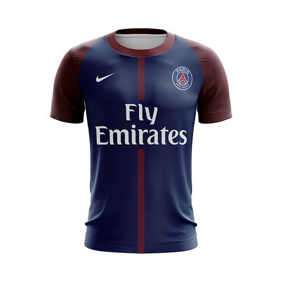 Camiseta paris saint germain psg adulto personalizada c nome