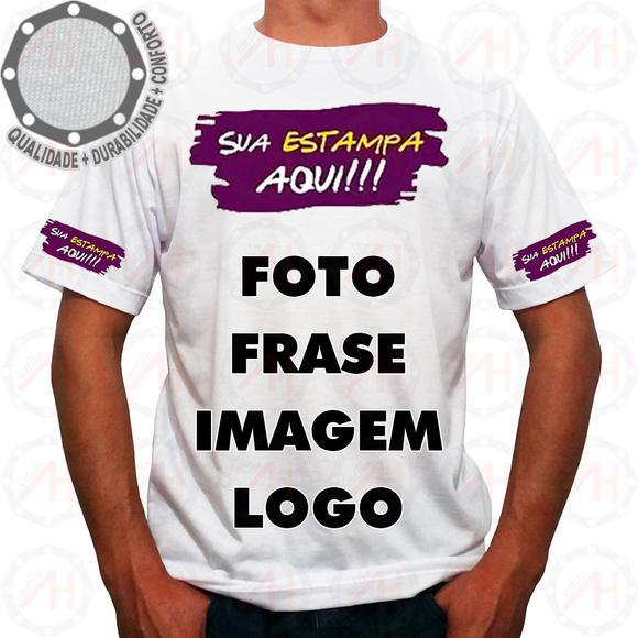 Camiseta personalizada foto imagem logo