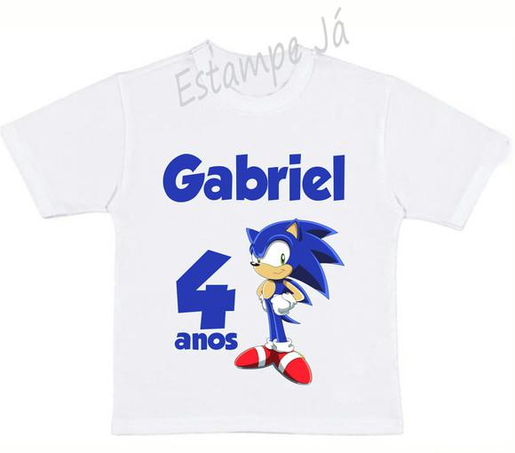 Camiseta personalizada do sonic camiseta do sonic