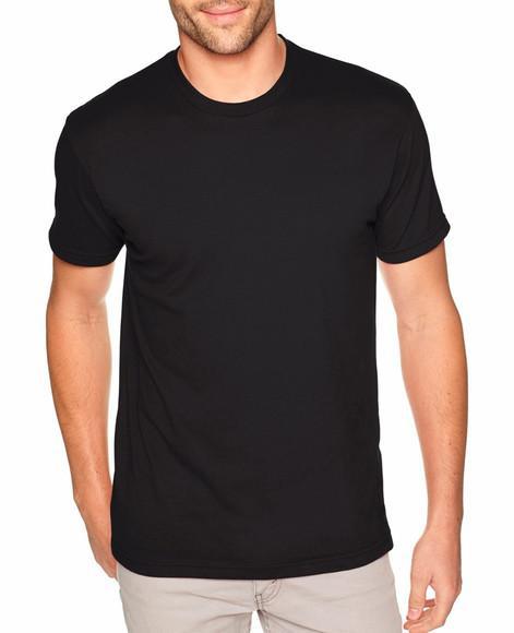 Camiseta básica lisa malha pv preta masculina gola redonda