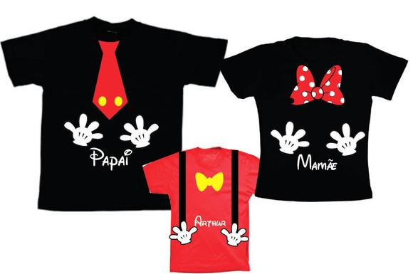 Camisetas personalizadas para aniversario do mickey e minnie