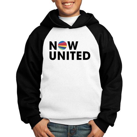 Moletom infantil raglan now united