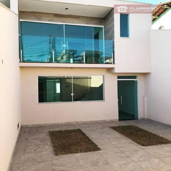 Casa geminada 3 quartos à venda no bairro santa amelia -