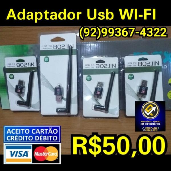 Adaptador antena wifi usb 900 mbps wireless pc/ notebooks