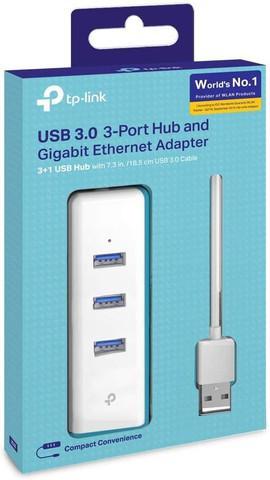 Adaptador ethernet tp-link ue330 rj45 gigabit hub usb 3.0 ou