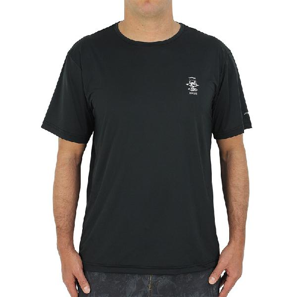 Camiseta para surf rip curl search logo black - surf alive