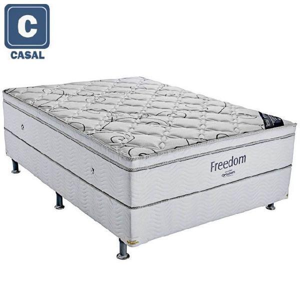 Conjunto cama box colchao freedom ortobom casal (138x188)