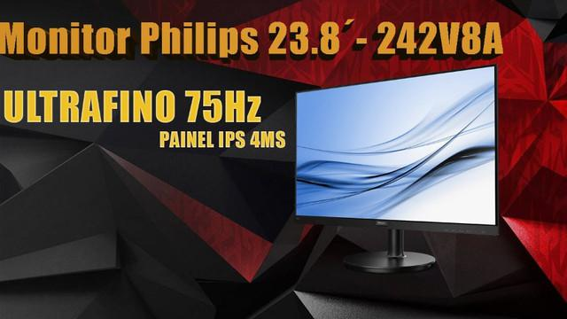 Monitor philips led 24 pol., full hd, hdmi/displayport,