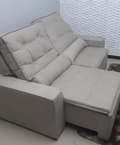 Sofá retrátil reclinável apolo - 2mt- entrega grátis