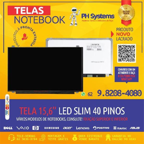 Telas p/ notebooks vários tamanhos e modelos, novas com