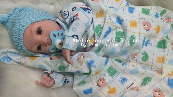 Bebê reborn menino com enxoval brinde