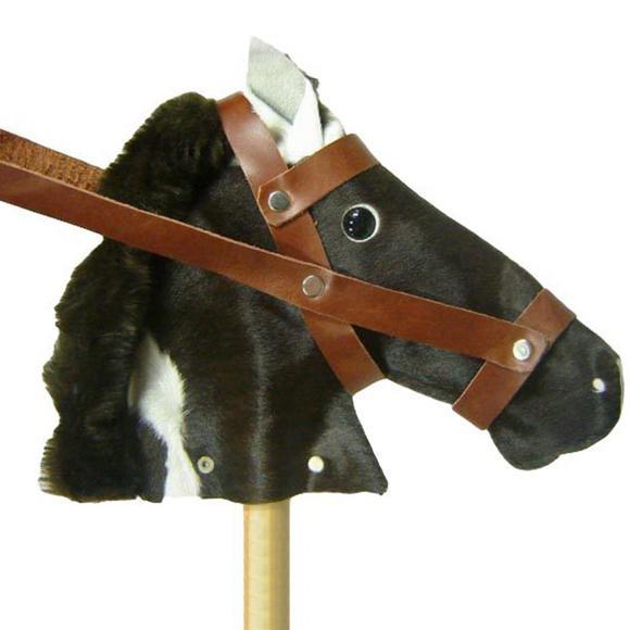 Cavalo de pau tradicional - madeira - 90 cm de altura -100%