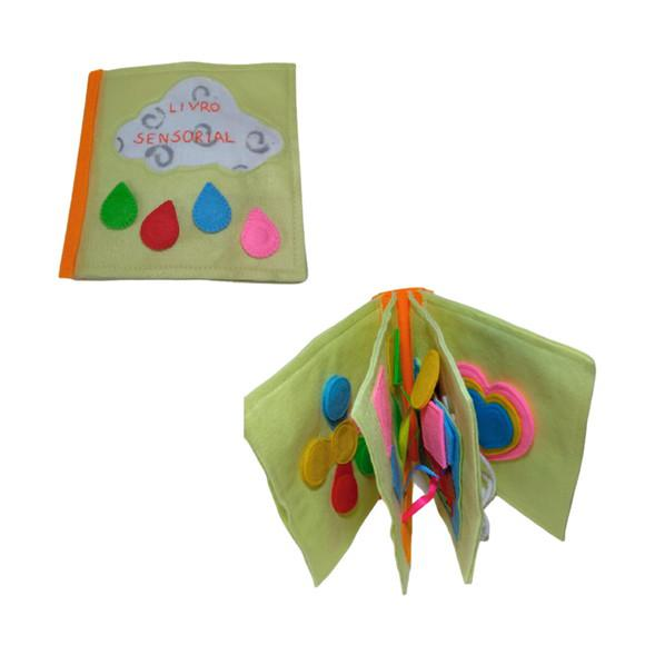 Livro de feltro sensorial quiet book brinquedos educativos