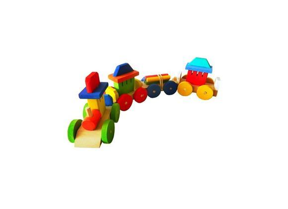 Trem trenzinho brinquedo em madeira brinquedoteca educativo