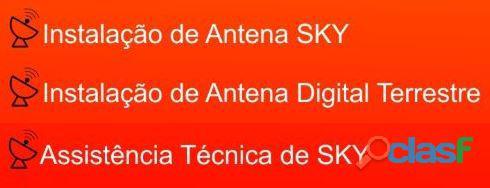 Instalador de tv a Cabo Sky e UHF.