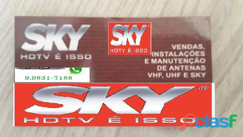 Instalador de tv a Cabo Sky e UHF. 9