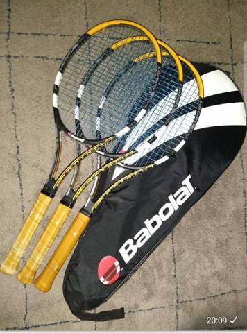 3 raquetes babolat pure storm ltd+