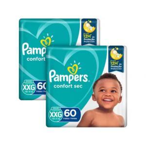 APP] Kit 2 Pacotes Fraldas Pampers Confort Sec Tam XXG +de