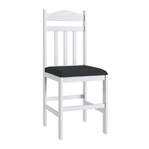 Cadeiras madeira branca e assento preto lilies m/u00f3veis