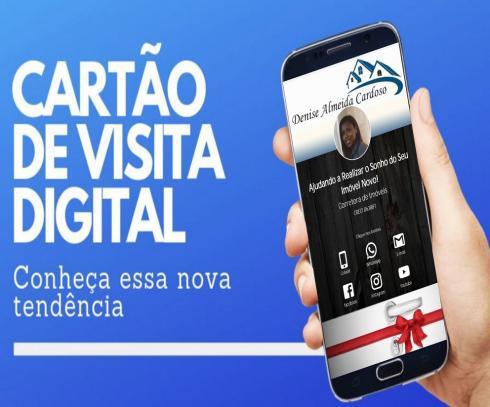 Cartão de visita web - cartão interativo e cartão de